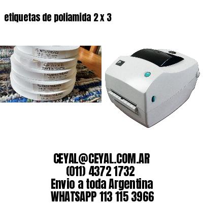 etiquetas de poliamida 2 x 3
