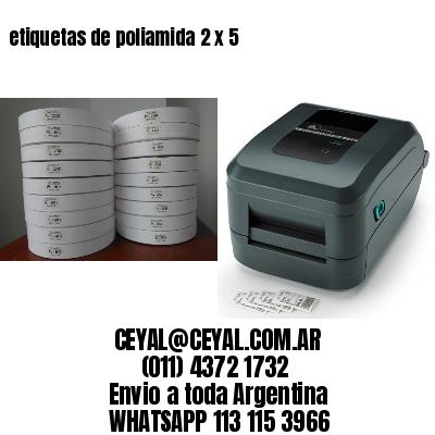etiquetas de poliamida 2 x 5