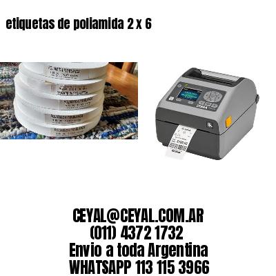 etiquetas de poliamida 2 x 6