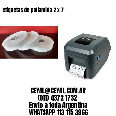 etiquetas de poliamida 2 x 7