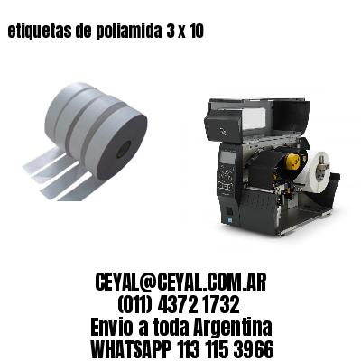 etiquetas de poliamida 3 x 10
