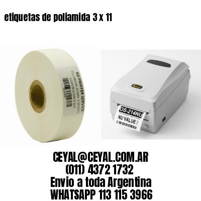 etiquetas de poliamida 3 x 11