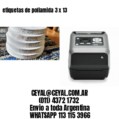 etiquetas de poliamida 3 x 13