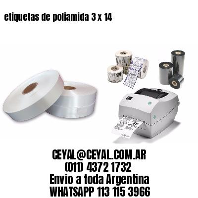 etiquetas de poliamida 3 x 14