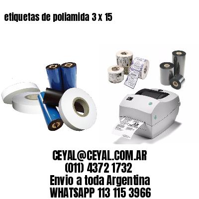 etiquetas de poliamida 3 x 15