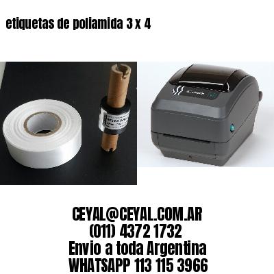 etiquetas de poliamida 3 x 4