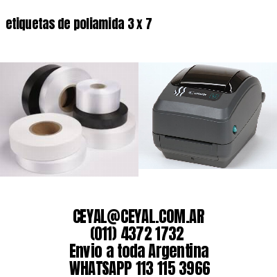 etiquetas de poliamida 3 x 7