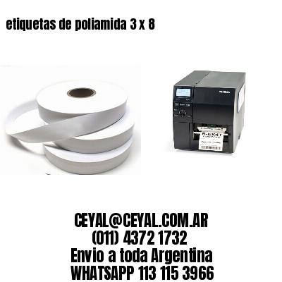etiquetas de poliamida 3 x 8