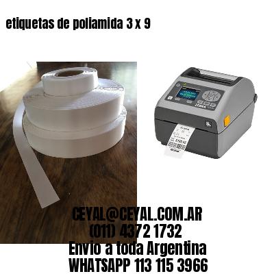 etiquetas de poliamida 3 x 9