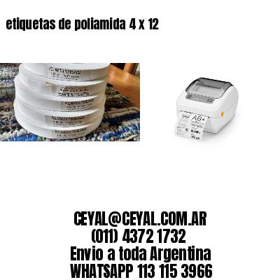 etiquetas de poliamida 4 x 12