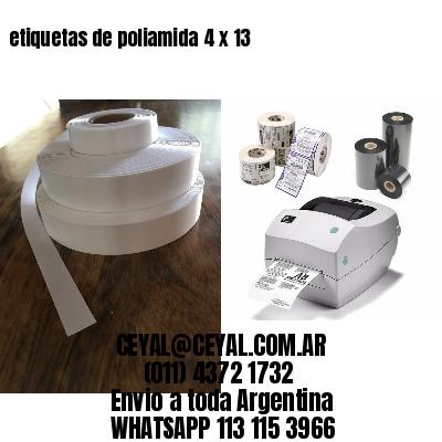 etiquetas de poliamida 4 x 13