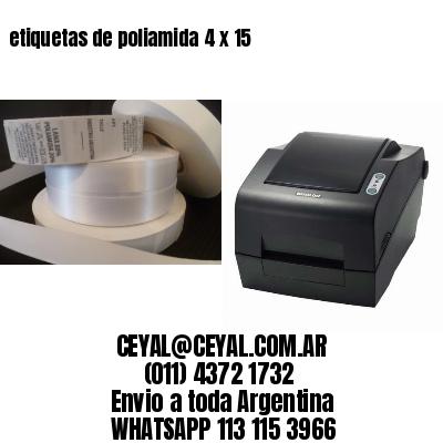 etiquetas de poliamida 4 x 15