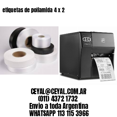 etiquetas de poliamida 4 x 2