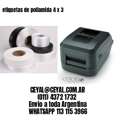 etiquetas de poliamida 4 x 3