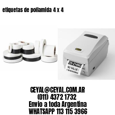 etiquetas de poliamida 4 x 4