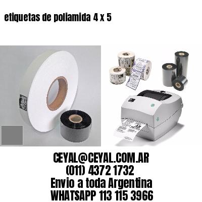 etiquetas de poliamida 4 x 5