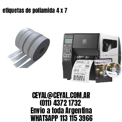 etiquetas de poliamida 4 x 7