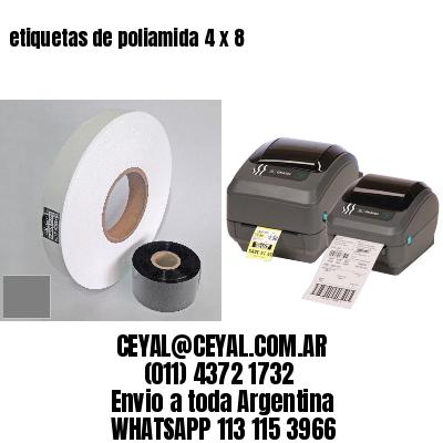 etiquetas de poliamida 4 x 8