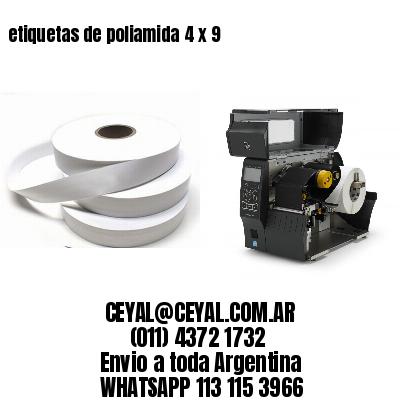 etiquetas de poliamida 4 x 9