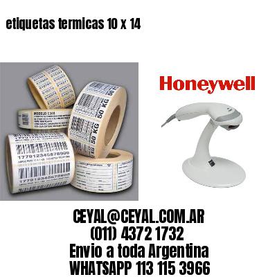 etiquetas termicas 10 x 14