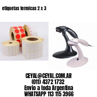 etiquetas termicas 2 x 3