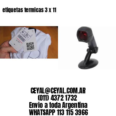 etiquetas termicas 3 x 11