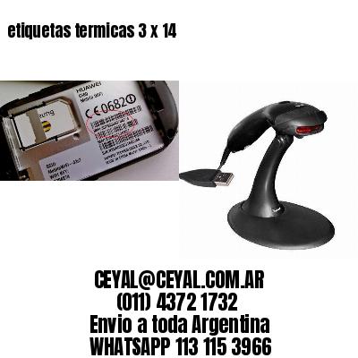 etiquetas termicas 3 x 14