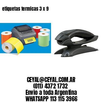 etiquetas termicas 3 x 9