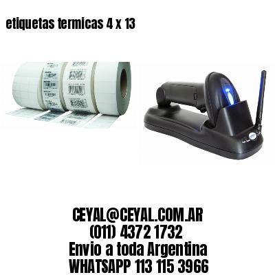 etiquetas termicas 4 x 13