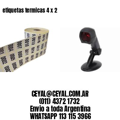 etiquetas termicas 4 x 2