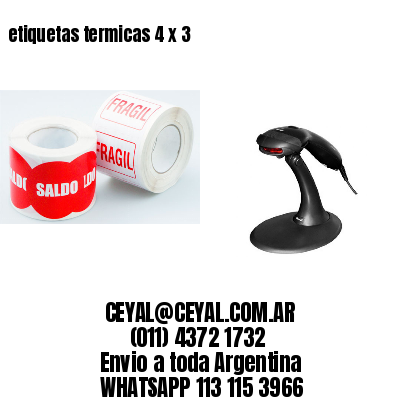 etiquetas termicas 4 x 3