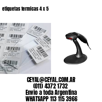 etiquetas termicas 4 x 5