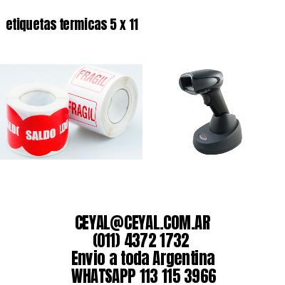 etiquetas termicas 5 x 11