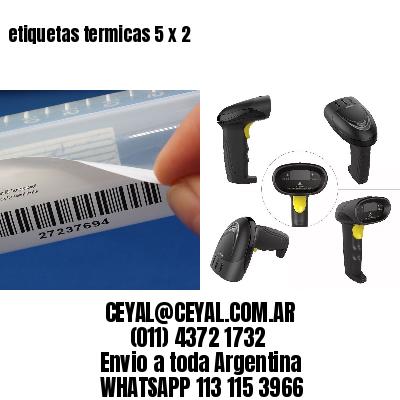 etiquetas termicas 5 x 2