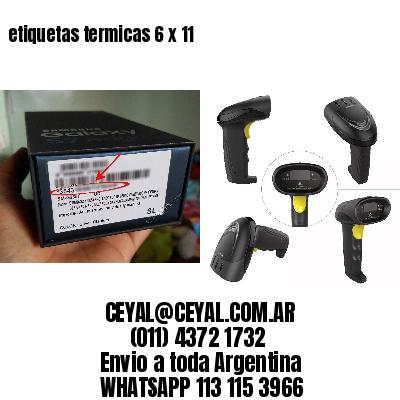 etiquetas termicas 6 x 11