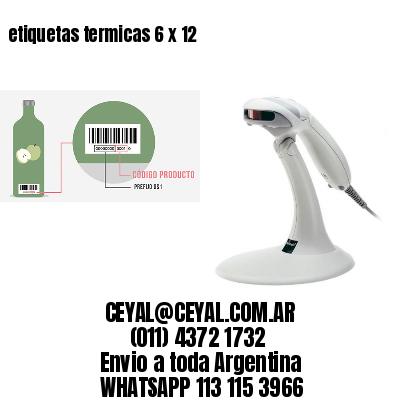 etiquetas termicas 6 x 12