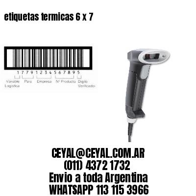 etiquetas termicas 6 x 7