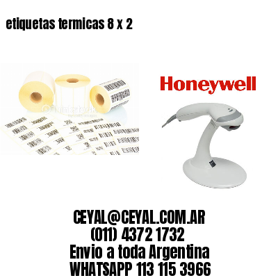 etiquetas termicas 8 x 2