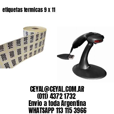 etiquetas termicas 9 x 11