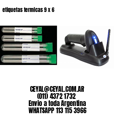 etiquetas termicas 9 x 6