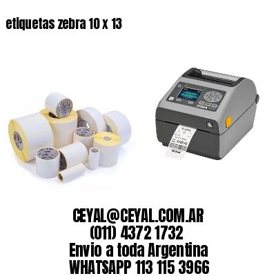 etiquetas zebra 10 x 13