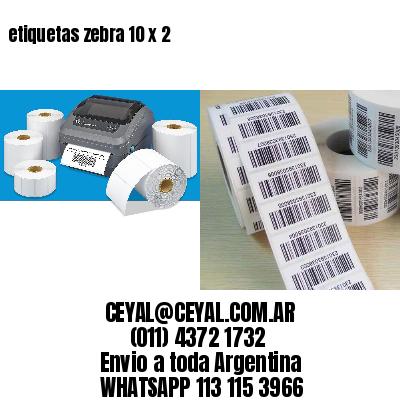 etiquetas zebra 10 x 2
