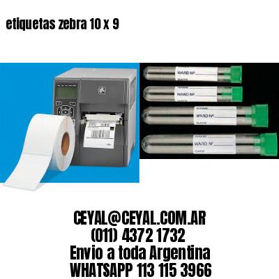 etiquetas zebra 10 x 9