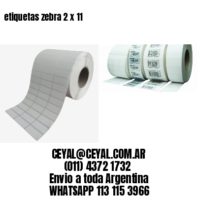 etiquetas zebra 2 x 11
