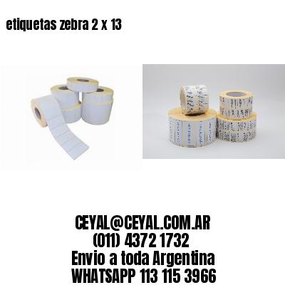etiquetas zebra 2 x 13