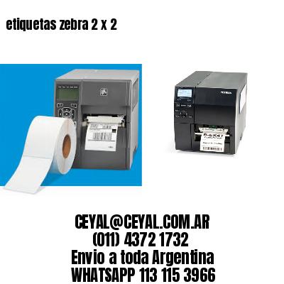 etiquetas zebra 2 x 2