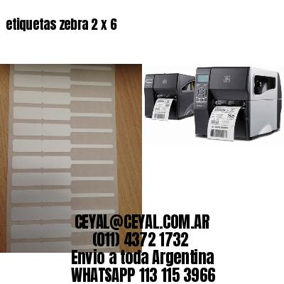 etiquetas zebra 2 x 6