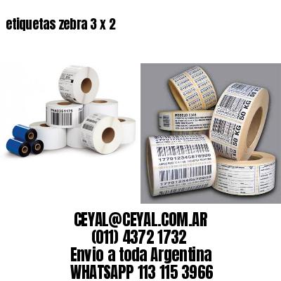 etiquetas zebra 3 x 2
