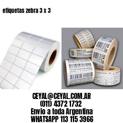 etiquetas zebra 3 x 3