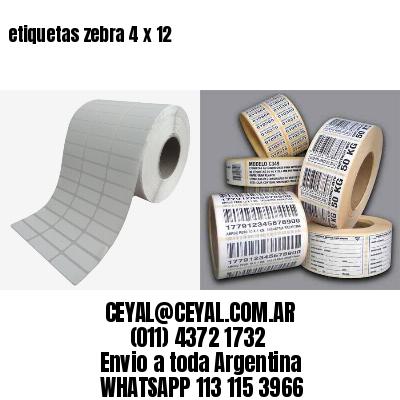 etiquetas zebra 4 x 12
